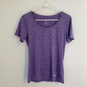 Purple Nike scoop neck top